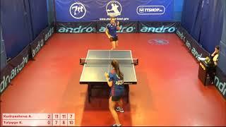 Настольный теннис матч 20112018 9 Кудряшова Анна Толпыго Кристина за 1-2 место