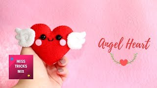 Cute Angel Heart Felt DIY Tutorial | #5 Valentine Kawaii.