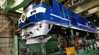 2019年10月26日_JR貨物広島車両所「貨物フェスティバル」_機関車吊り上げ実演