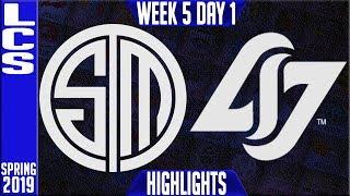 TSM vs CLG Highlights   LCS Spring 2019 Week 5 Day 1   Team Solomid vs Counter Logic Gaming