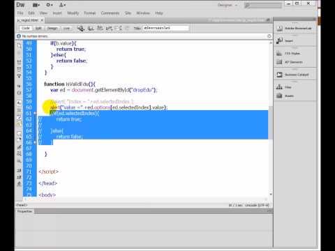 วิชาการพัฒนาเว็บ : 18 ตัวอย่างการใช้ javascript สร้างฟอร์มสมัครงาน #03