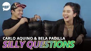 """Bela Padilla asks Carlo Aquino: """"Kung mayro'n kang ex na babalikan..?""""   PEP Challenge"""