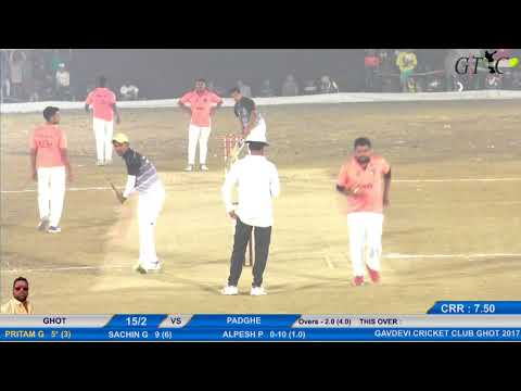 GHOT V/S PADGHE MATCH AT GAONDEVI CRICKET CLUB, GHOT (FINAL DAY)