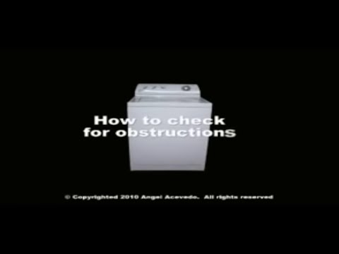 Washer Diagnostic Not Draining Whirlpool Maytag Ro