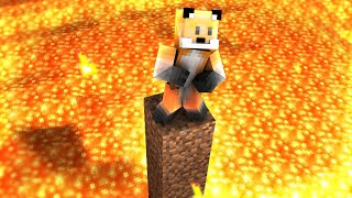 Minecraft, But Every 5 Minutes The Lava Level Rises