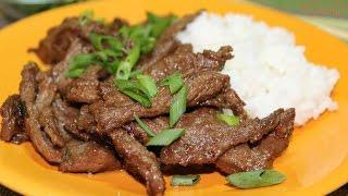 Булькоги из говядины. Корейская кухня.