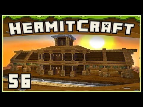 HermitCraft 4 - Minecraft:   Train Station Building And New