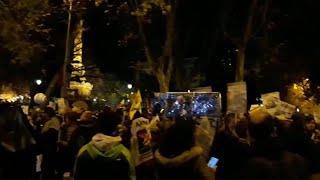 Jóvenes en la manifestación de Madrid en el marco de la COP25