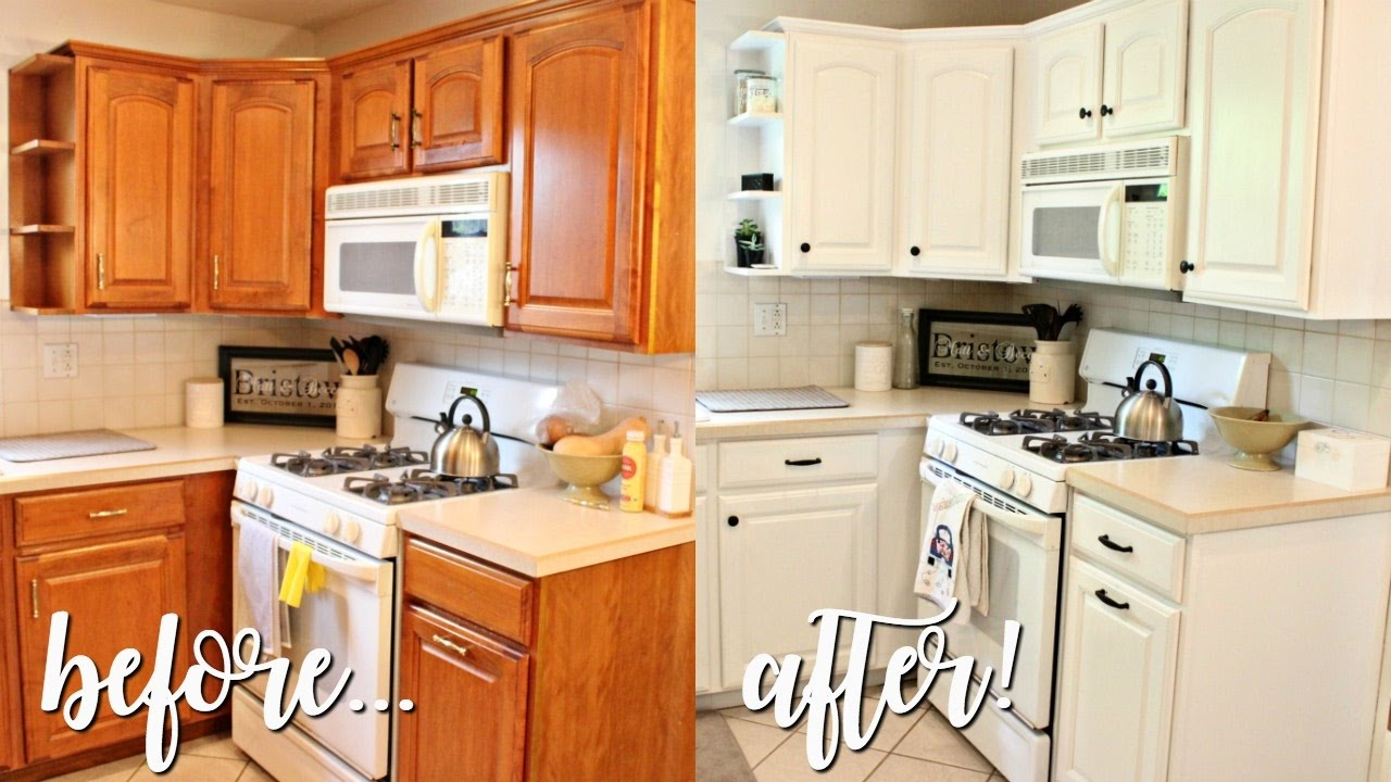 white kitchen cabinets outdated how i transformed my kitchen 100 outdated oak to 28881