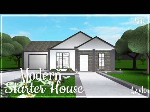 Roblox Bloxburg Modern Starter House 50k Youtube