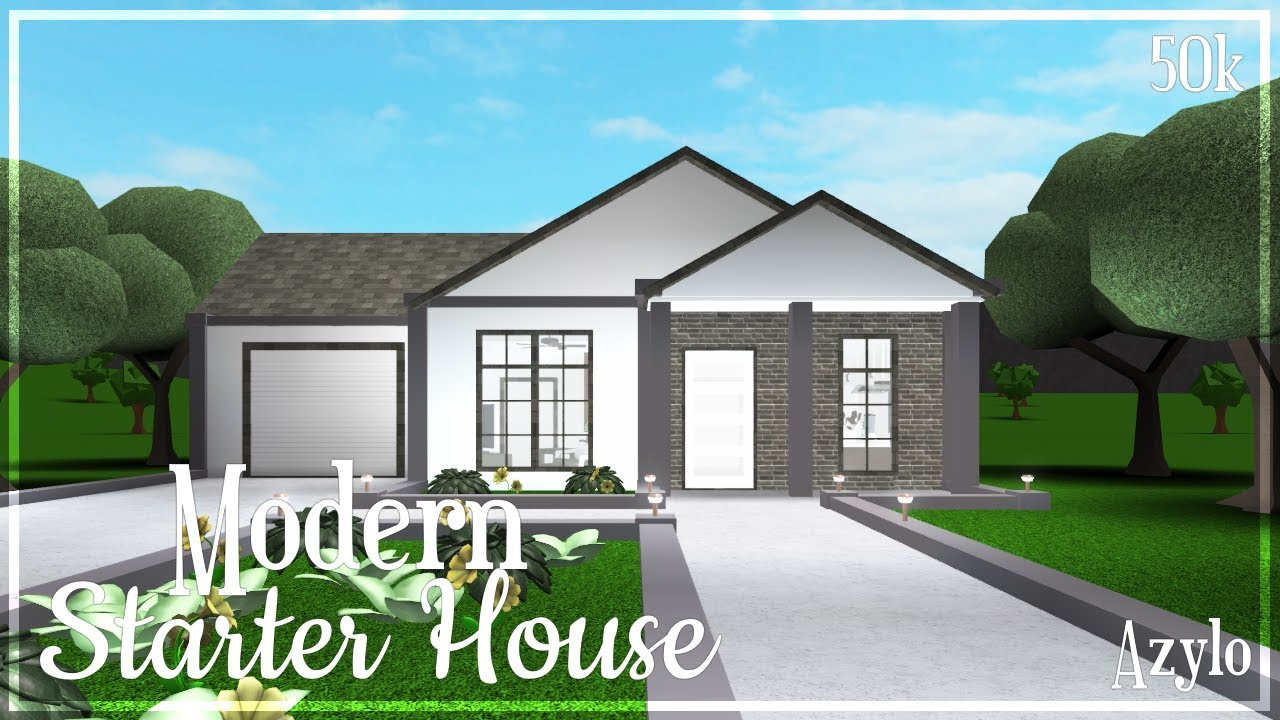 Roblox Houses For 50k Mini Mansion Roblox Bloxburg Modern Starter House 50k Youtube