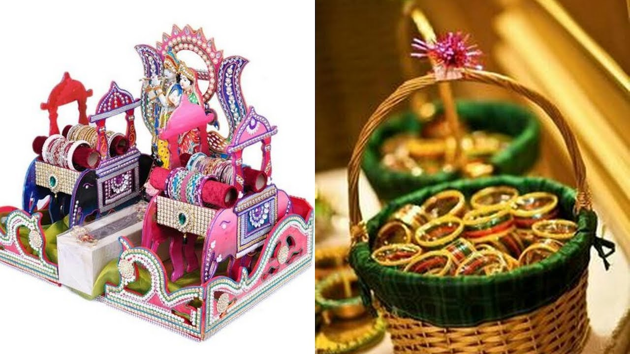 1d54b2d3a Decorative idea of bangles packing for wedding