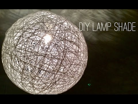 Yarn Lamp shade *** DIY
