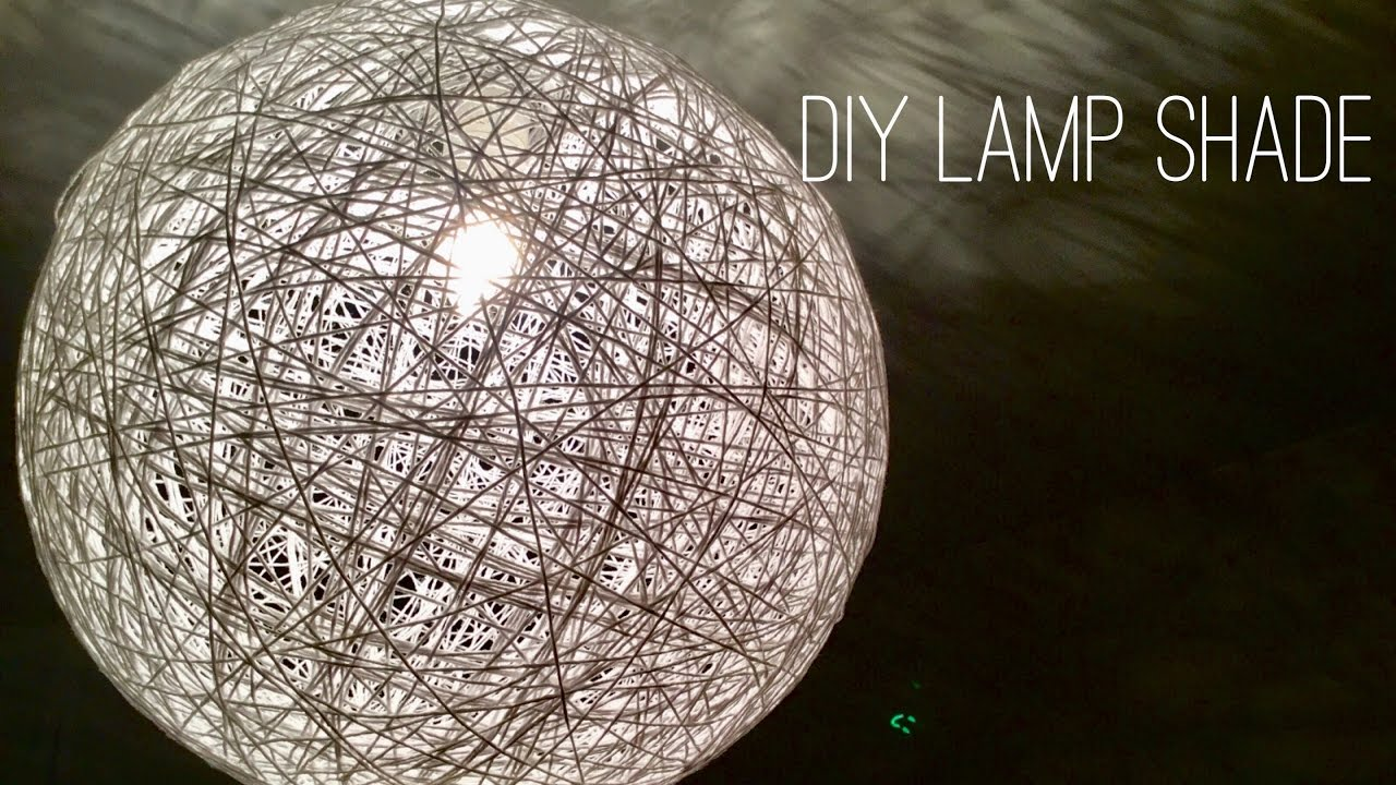 Yarn Lamp Shade Diy