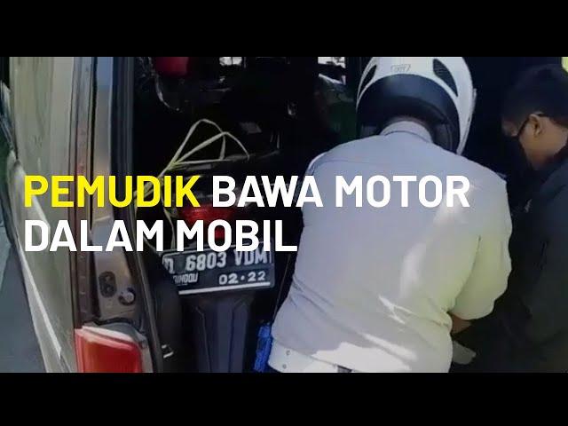 Ops Ketupat Lodaya 2020 Masih Berlangsung, Pemudik Bawa Motor dalam Mobil Diminta Putar Balik