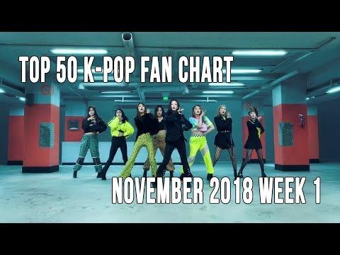 Top 50 K-Pop Songs Chart - November 2018 Week 1 Fan Chart Mp3