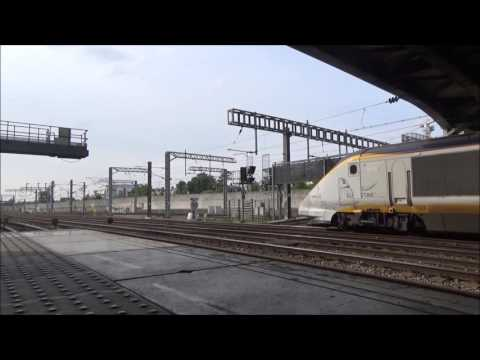 (HD) New and Old Eurostars depart St Pancras and Ashford | 21/05/2016