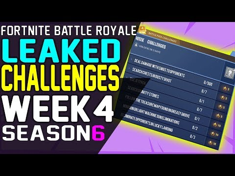 Fortnite CHALLENGES WEEK 4 Season 6 LEAKED, Battle Pass Challenges, Dance on Top of a Clock Towers