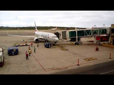 Caracas Airport Venezuela arrival of American Airlines flight from Miami