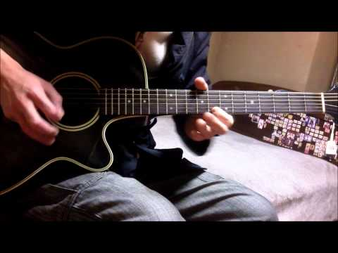 Naruto Shippuuden ED 21 - Cascade guitar cover (overdub)