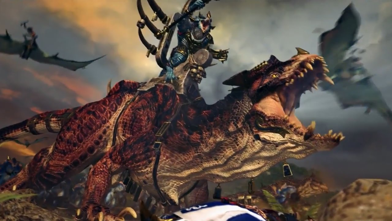 Dinosaur 3d Live Wallpaper Total War Warhammer 2 Official Lizardmen Cinematic In