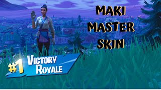 FORTNITE MAKI MASTER, NEW SKIN!!