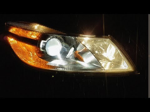 Skoda Octavia A5 2.0TDI ставим LED!