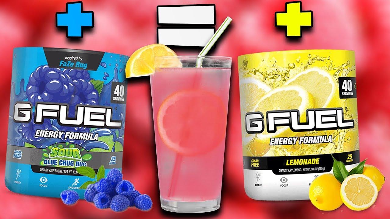 Raspberry Lemonade G Fuel New Does It G Fuel Sour Blue Chug Rug Lemonade G Fuel Mix Youtube