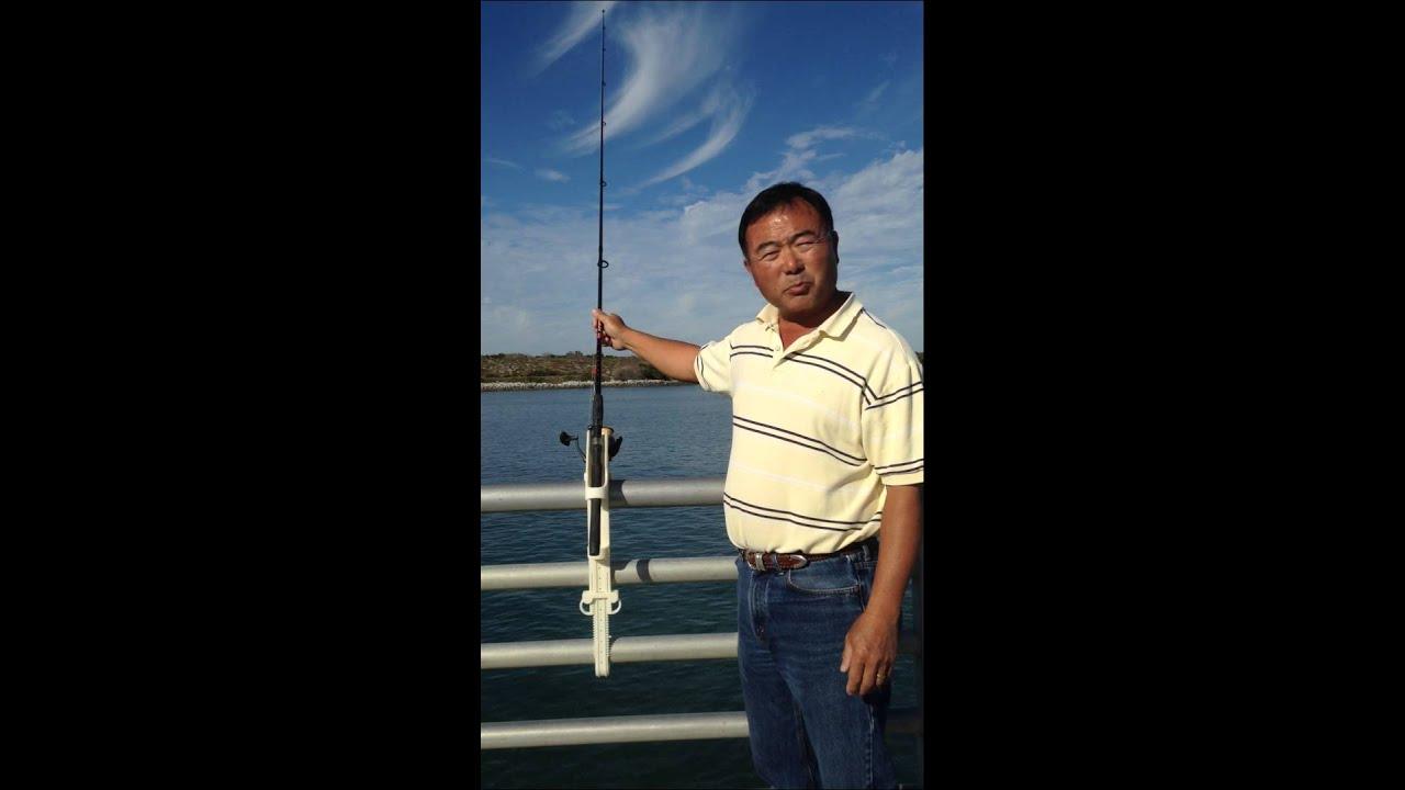 Pier pal jetty park model pier fishing pole holder for Pier fishing rod holder