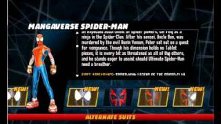 Repeat youtube video Spiderman Shattered Dimensions pc all costumes