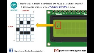 Custom Characters On 16x2 LCD With Arduino : Tutorial 55