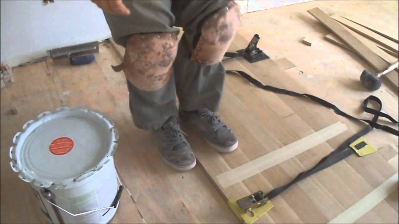 Wood floor strap clamps in hardwood floor glue down installation how wood floor strap clamps in hardwood floor glue down installation how to use mryoucandoityourself youtube ppazfo