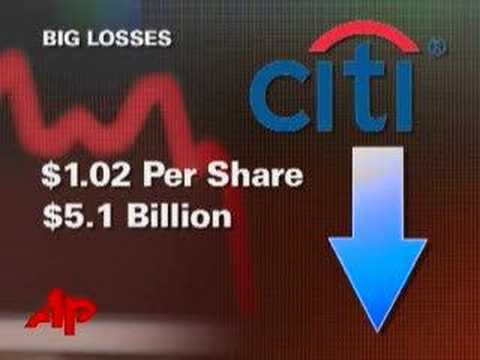Citigroup Reports $5.1 Billion Loss