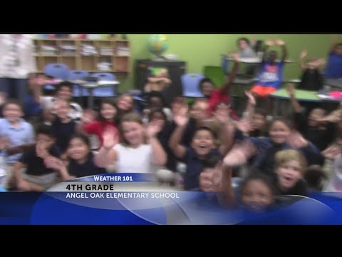 Rob Fowler visits the 4th grade at Angel Oak Elementary School for Weather 101