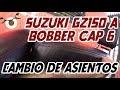 Suzuki GZ150 a Bobber Cap 6 Asientos de piel