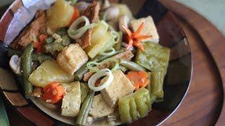 Rau Cai Kho Chay (vegetarian Ham Braised Vegetables With Tofu And Mushroom)