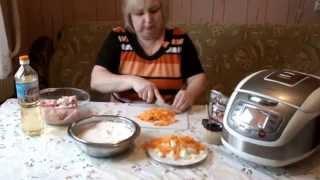 видео плов в мультиварке с курицей