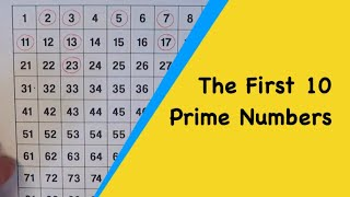 What Are The First 10 Prime Numbers?