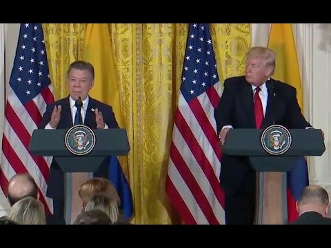 Trump News Conference With Columbian President Santos - Full Event