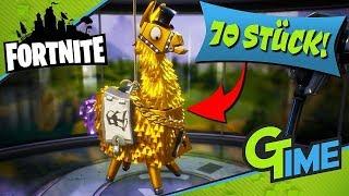 WIR ÖFFNEN 70 GOLDENE LLAMA  Fortnite Rette die Welt  Gamerstime