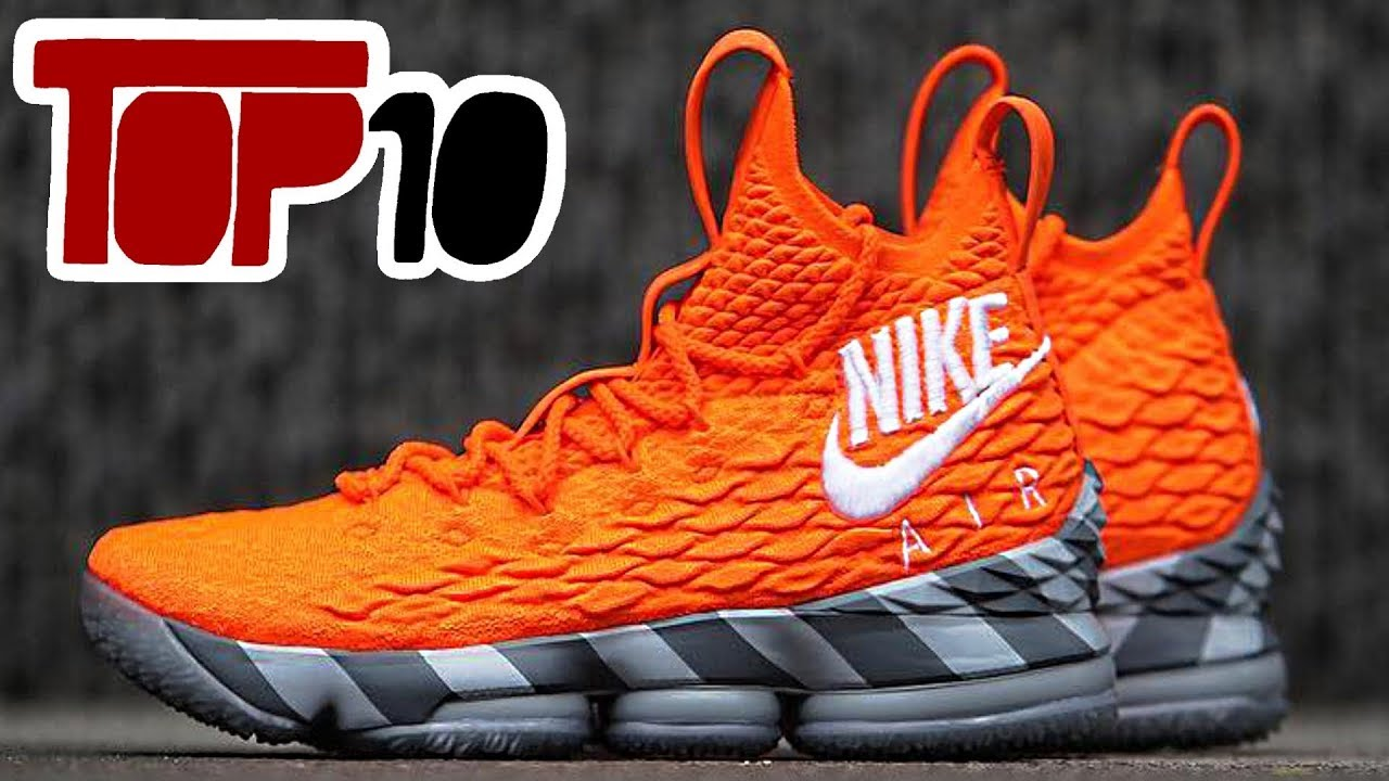 7150fee2cb3 Top 10 Nike Lebron 15 Shoes Of 2018 - YouTube
