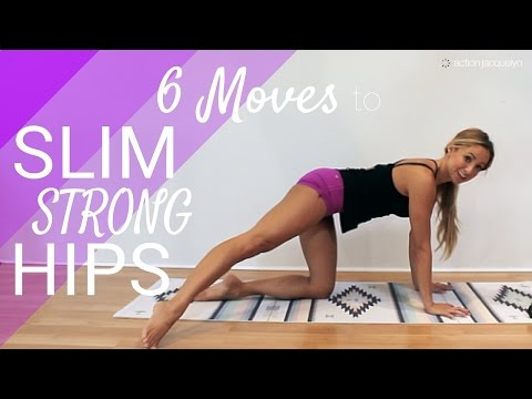 6 Moves to Slim Strong Hips and Booty, 20 minute workout