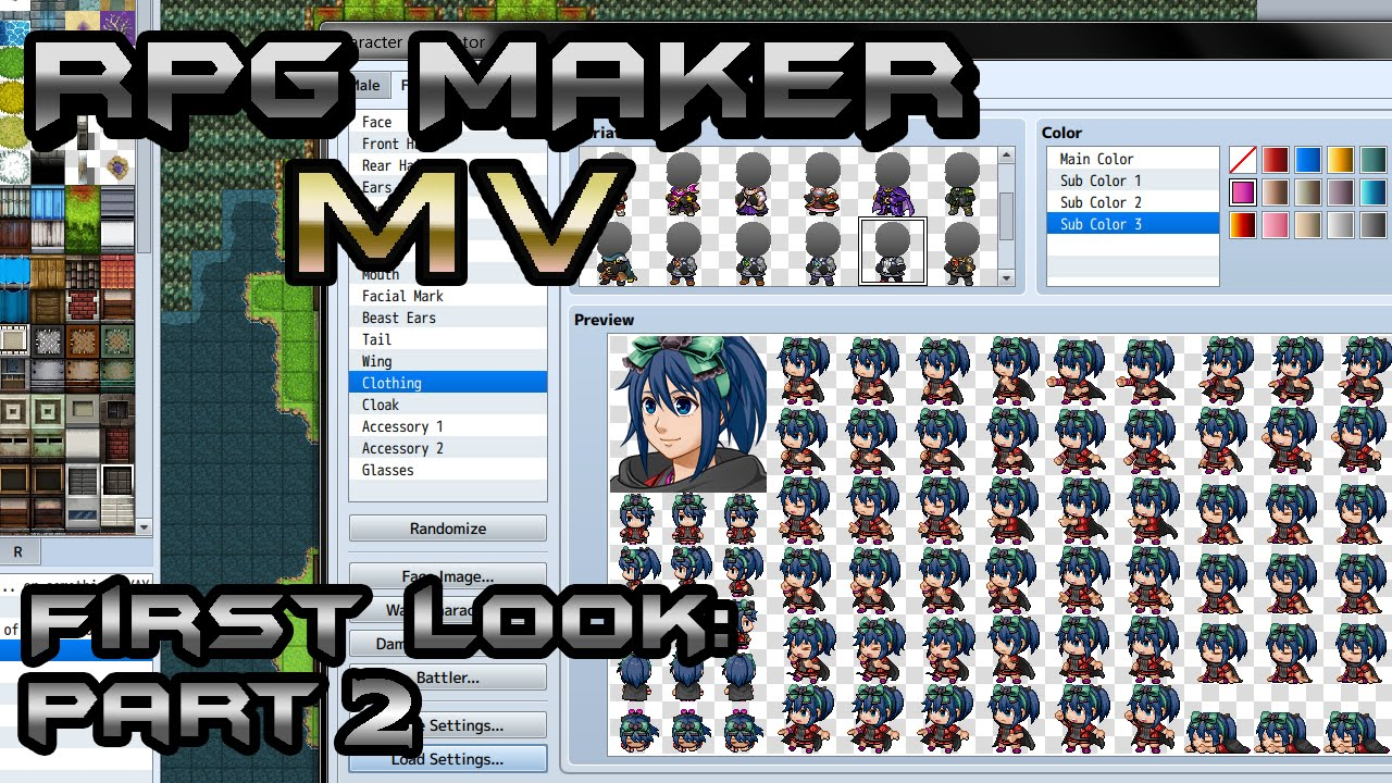 RPG Maker MV First Look 2: Character Generator and Event Searcher