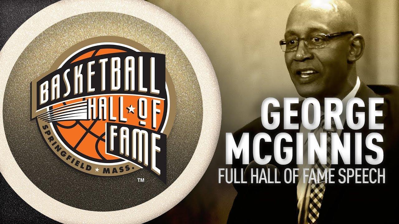 George McGinnis Hall of Fame Enshrinement Speech