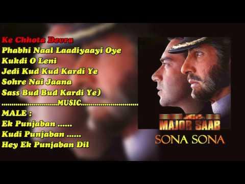 Sona Sona With Female Vocal & Chorus (MAJOR SAAB) PAID_KARAOKE SAMPLE