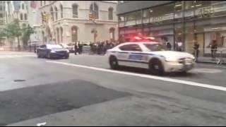 اتفرج..موكب الرئيس الأمريكي يتسبب في حالة من الشلل المرور في نيويورك