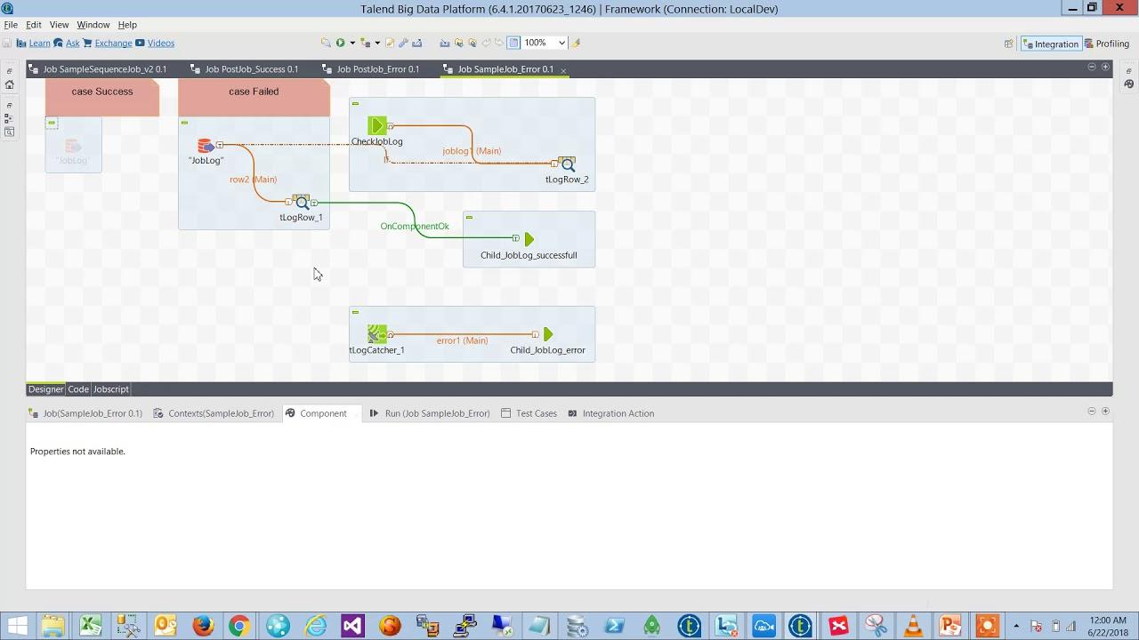 Talend Resume Last Error Job Framework 2 Demo Youtube