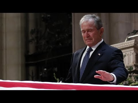 Walton And Johnson - George W Had a great eulogy for his Dad (video)