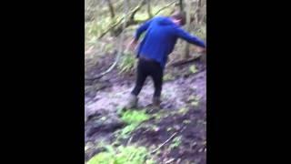 Sam Neil bog walk fail