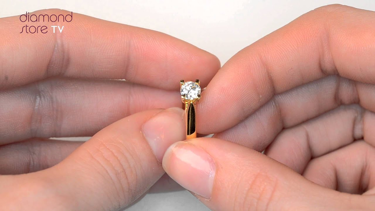 Flawless Grace Gold Diamond 18K Engagement Ring - YouTube